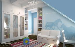 18 projekt wnętrza pokoju dziecka