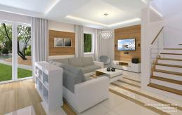 8 projekt wnętrza salonu